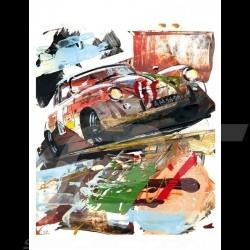 Porsche 356 State of Art 1953 Carrera Panamericana 1999 Reproduktion eines Originalgemäldes von Uli Hack