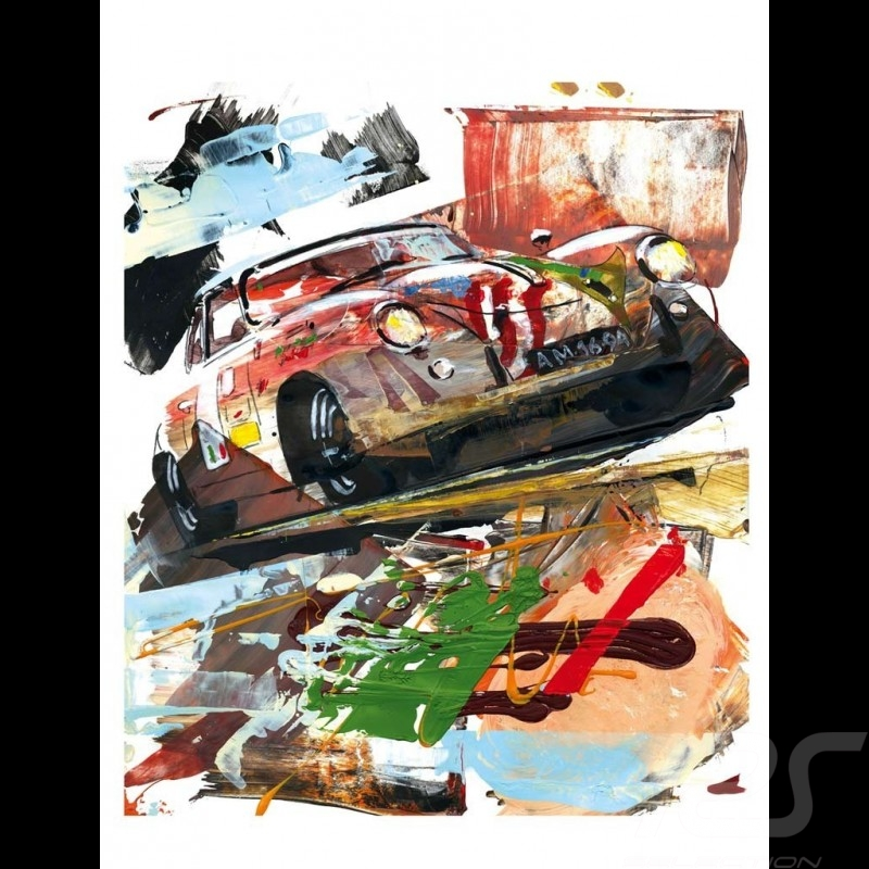 Porsche 356 State of Art 1953 Carrera Panamericana 1999 Reproduction d'une peinture originale de Uli Hack