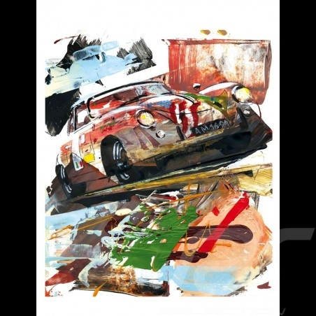 Porsche 356 State of Art 1953 Carrera Panamericana 1999 Reproduction of an Uli Hack original painting