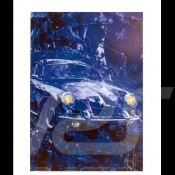 Porsche 356 State of Art Belgique Bleue Reproduction d'une peinture originale de Uli Hack