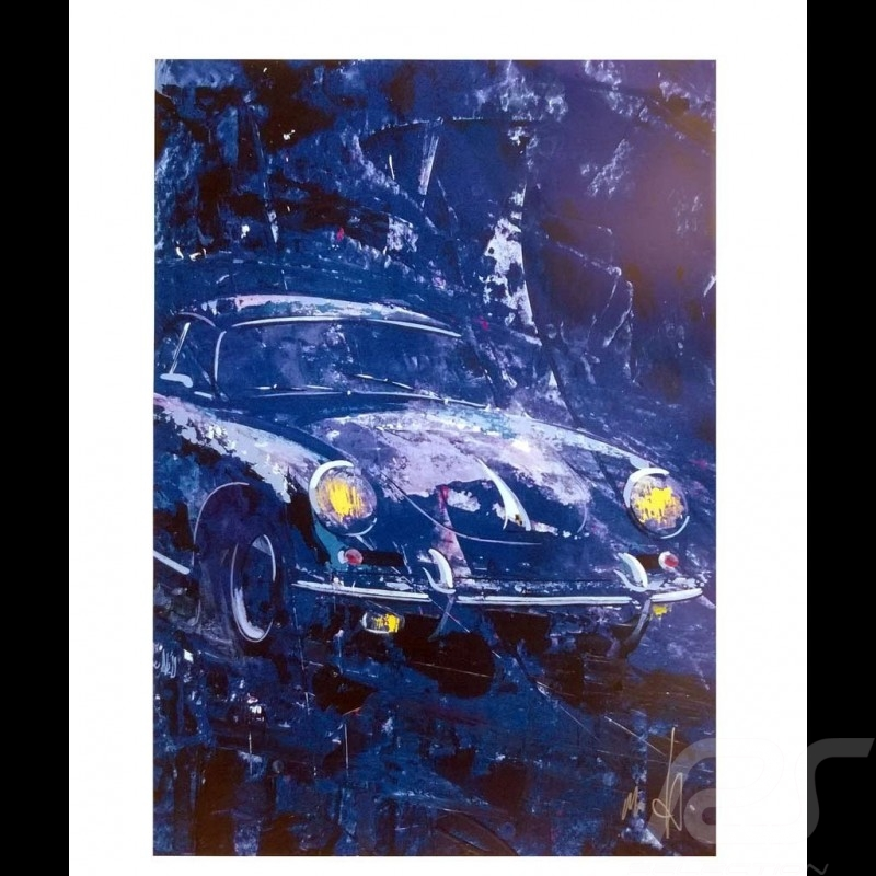 Porsche 356 State of Art Belgium Blue Reproduction of an Uli Hack original painting