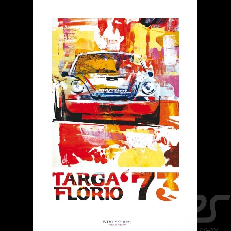 Porsche 911 Carrera RSR Winner Targa Florio 1973 Reproduction of an Uli Hack original painting