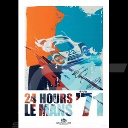Porsche 917 n° 22 Martini 24h Le Mans 1971 signature Reproduction d'une peinture originale de Uli Hack
