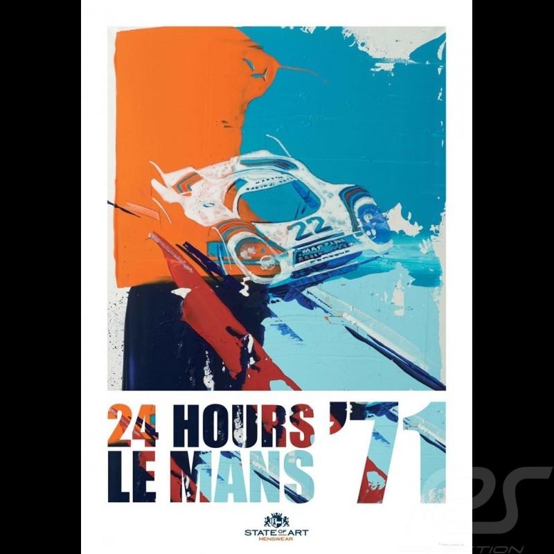 Porsche 917 n° 22 Martini Winner 24h Le Mans 1971 Reproduction of an Uli Hack original painting