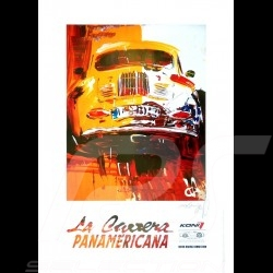 Porsche 356 State of Art La Carrera Panamericana Reproduction d'une peinture originale de Uli Hack