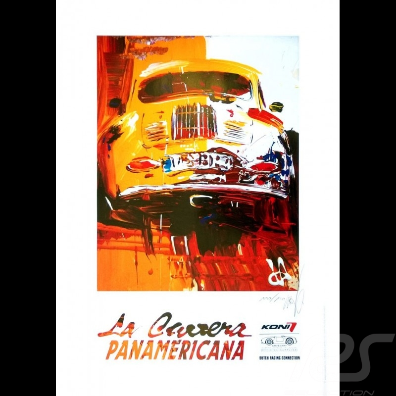 Porsche 356 State of Art La Carrera Panamericana Reproduction of an Uli Hack original painting