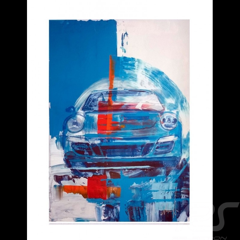 Porsche 911 Type 991 Blue 2013 Reproduction of an Uli Hack original painting