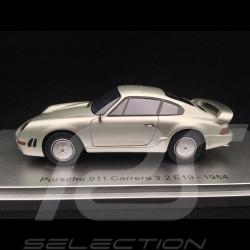 Porsche 911 Carrera 3.2 E19 1984 gris argenté 1/43 Kess KE43024020