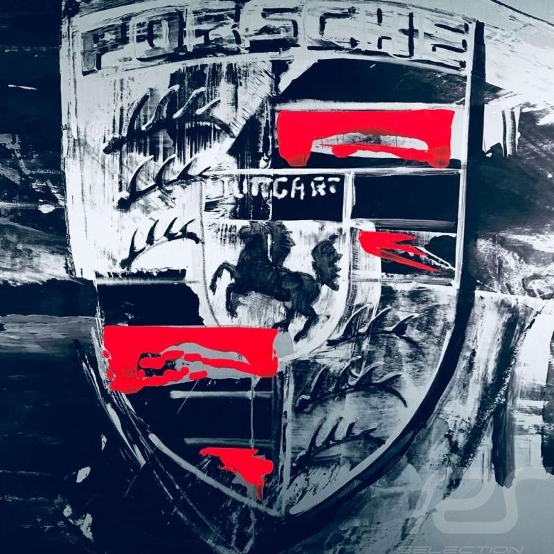 Porsche crest Aluminum colour Uli Hack 75 x 75