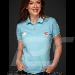 Polo Gulf victoire Le Mans Vintage bleu ciel sky blue hellblau femme women damen