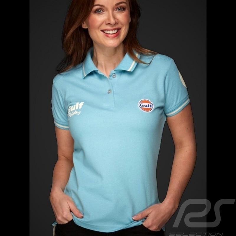 Gulf Le Mans victory Vintage Polo Sky blue - women