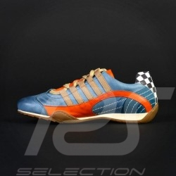 Sneaker / basket shoes style race driver Gulf blue - women