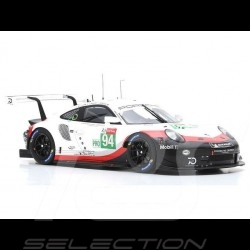 Porsche 911 RSR type 991 24h du Mans 2018 n° 94 Porsche Team 1/12 Spark 12S014