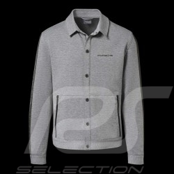 Porsche Jacket 928 Collection Sweat jacket Collar shirt Heather grey Porsche Design WAP424KHTP - men