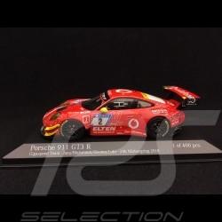 Porsche 911 type 991 GT3 R 24h Nürburgring 2018 n° 2 Gigaspeed 1/43 Minichamps 410186702