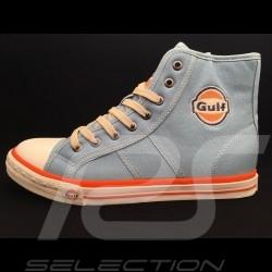 Gulf Hi-top Sneaker / Basket Schuhe Vintage Design Gulfblau - Herren