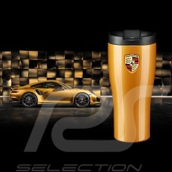 Porsche Mug isothermal 911 Turbo S golden metallic high gloss finish Porsche Design WAP0506240L