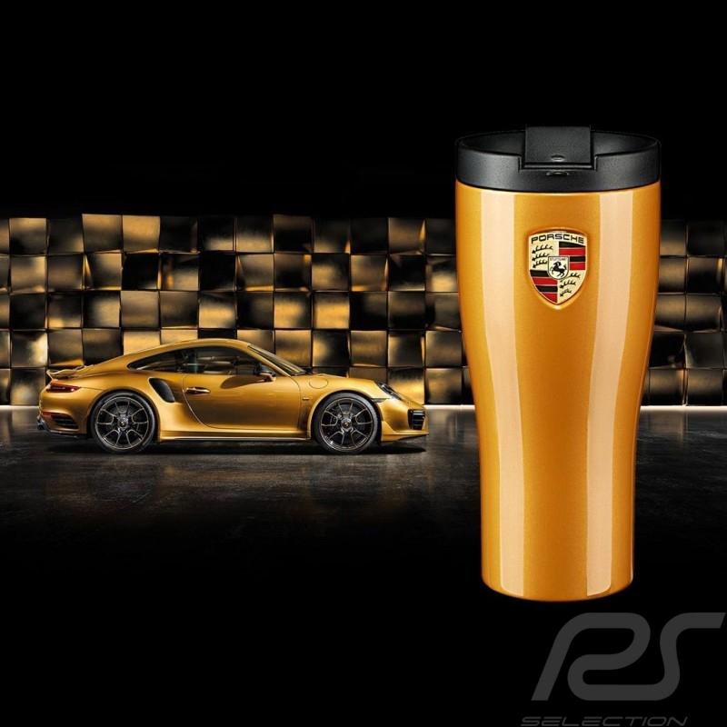 Porsche Mug isothermal 911 Turbo S golden metallic high gloss finish Porsche WAP0506240L