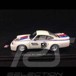 Porsche 911 3.0 RSR n° 59 Mid Ohio 1975 1/43 Spark US047