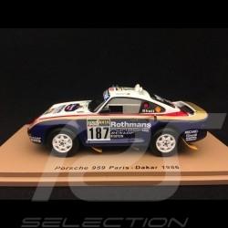 Porsche 959 n° 187 Paris - Dakar 1986 1/43 Spark S7816
