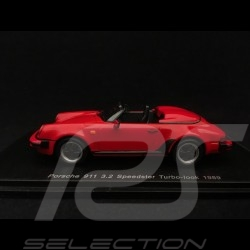 Porsche 911 3.2 Speedster Turbo-look 1989 rouge Indien Guards red Indischrot 1/43 Spark S4471
