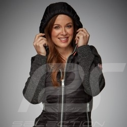 Gulf bi-material hoodie jacket Motorsport Edition Black - women