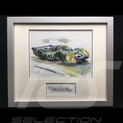 Porsche 917 LH n° 3 Psychedelic Le Mans 1971 wood frame aluminum with black and white sketch Limited edition Uli Ehret - 275
