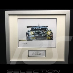 Porsche 991 GT3 RSR n° 77 Dempsey Proton 2016 wood frame aluminum with black and white sketch Limited edition Uli Ehret - 618