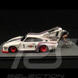 Porsche 935 n° 1 Martini 1978 avec cycliste with cyclist mit radfahrer Jean-Claude Rude 1/43 Spark S1939