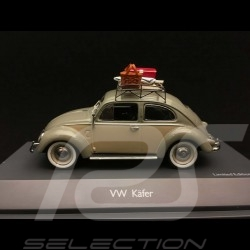 Coccinelle Beetle Käfer Volkswagen grey-green and beige with roof rack and picnic set 1953 1/43 Schuco 450258500