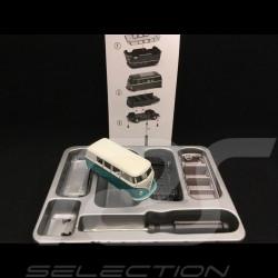 Volkswagen T1 transporter bleu et blanc 1952 en kit 1/64 Schuco 452020000