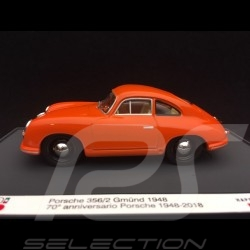 Porsche 356 /2 Gmünd 1948 orange Porsche 70th anniversary 1/43 Brumm S1830