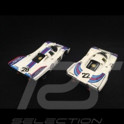 Duo Porsche 917 K Martini Racing Le Mans n° 22 and Zeltweg n° 28 1971 1/43 Brumm R220 R520