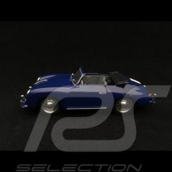 Porsche 356 pre A Cabriolet 1952 royal blue 1/43 Brumm R11705
