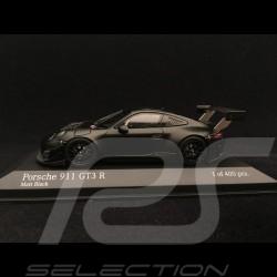 Porsche 911 GT3 R 991 noir mat présentation matte black presentation Matt-schwarz Präsentation 2018 1/43 Minichamps 413186798