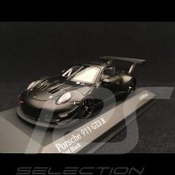 Porsche 911 GT3 R 991 matte black presentation 2018 1/43 Minichamps 413186798