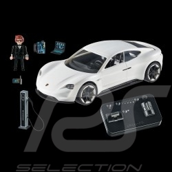 Porsche Mission e white with Rex Dasher character Playmobil 70078