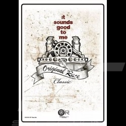 Porsche Flat 6 sounds good poster 50 x 70 cm