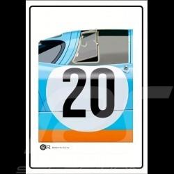 Poster Porsche 917 K n° 20 Gulf JWA 50 x 70 cm