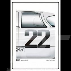 Poster Plakat Porsche 917 n° 22 Le Mans 1971 Martini 50 x 70 cm