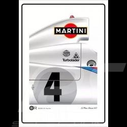 Porsche 936 n° 4 Le Mans 1977 Martini poster 50 x 70 cm