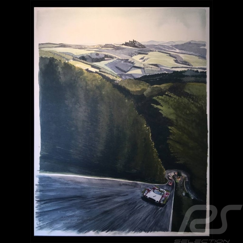 Porsche 908 n° 1T Nürburgring 1969 victory on canvas Limited edition Uli Ehret - 777 canvas