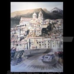 Porsche 550 n° 118 Targa Florio 1959 sur toile Edition limitée Uli Ehret - 783