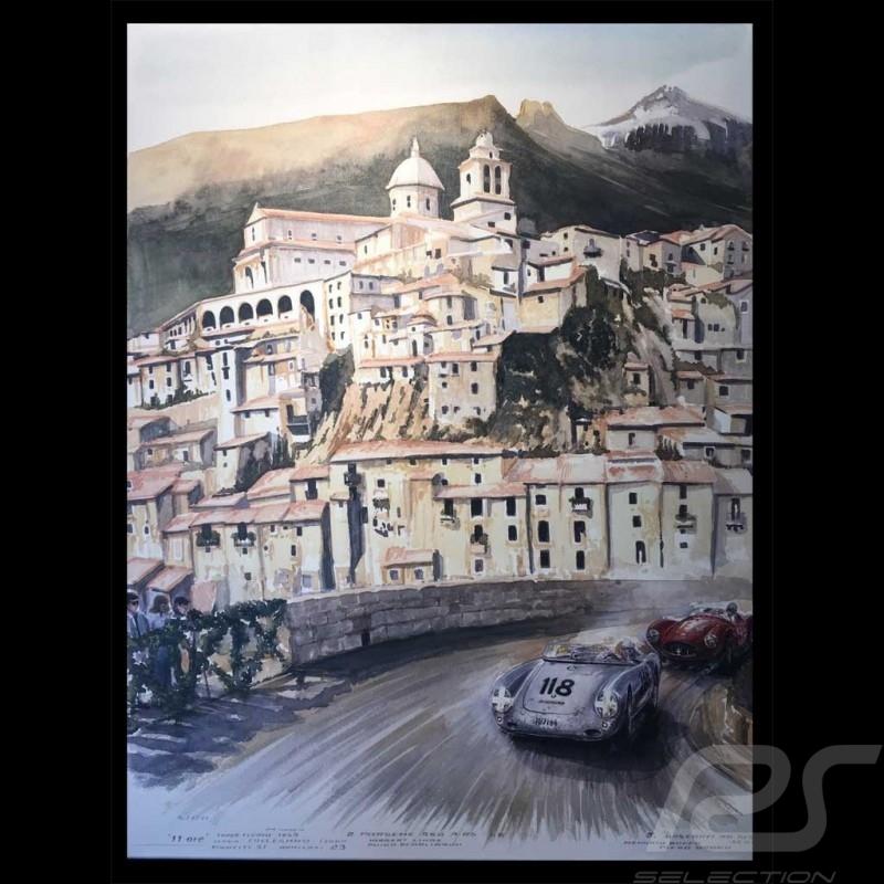 Porsche 550 n° 118 Targa Florio 1959 on canvas Limited edition Uli Ehret - 777
