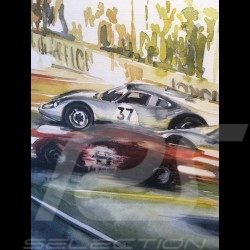 Porsche 904 GTS 12h de Reims 1964 on canvas Limited edition Uli Ehret - 606