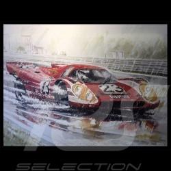 Porsche 917 n° 23 victoire 24h le Mans 1970 sur toile Edition limitée Uli Ehret - 105