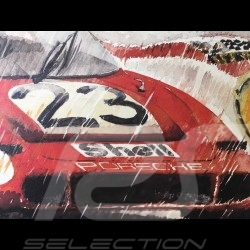Porsche 917 n° 23 24h le Mans 1970 victory on canvas Limited edition Uli Ehret - 105