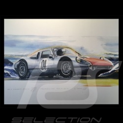 Porsche 904 GTS en montagne mountain berg sur toile canvas leinwand 60 x 90 cm Edition limitée Uli Ehret - 591