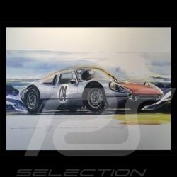 Porsche Poster 904 GTS am Berg auf Leinwand 60 x 90 cm Limitierte Auflage Uli Ehret - 591