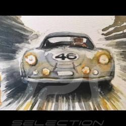 Porsche 356 Trio Stuttgart Le Mans on canvas 60 x 80 cm Limited edition Uli Ehret - 199